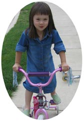Picture of Isako riding her bike.